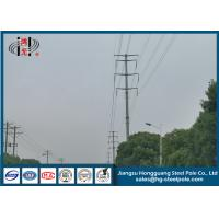 China Low Voltage 20m Dodecagonal Galvanized Electric Pole with Bitumen Painted  Q345 on sale