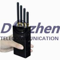 China 4 Band 2W Portable Mobile Phone Signal Jammer 2G 3G 4G LTE 50-60Hz ROHS Approval on sale