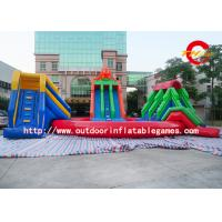 China Qqua Park Kids / Adults Giant Inflatable Water Park With Swwming Pool on sale