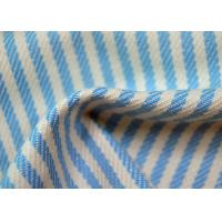 Yarn Dyed Cotton Fabric / Blue And White Striped Fabric Custom Made Color Manufactures