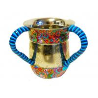 Custom Religious Judaica Judaism Israel Jewish Hand Washing Cup Two handled Cup Ritual washing in Judaism Manufactures