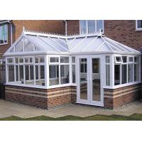 Powder Coating High End Greenhouses , White Aluminum Frame Greenhouse Manufactures