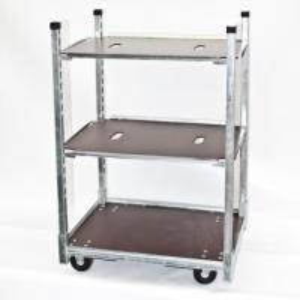 Buy cheap danish flower trolley/flower racks/flower cart, iron steel + plywood from wholesalers