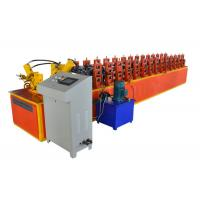China M Type Frame Steel Profile Roll Forming Machine , Iron Sheet Making Machine Orange Color on sale