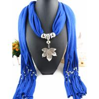China Wholesale new design fashion alloy maple leaf pendant scarf jewelry on sale