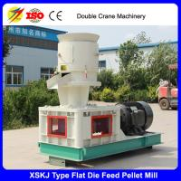 China Flat die cattle chicken feed pellet mill, animal feed pellet making machine on sale
