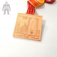 Round Square Rose Metal Gold Medal Prize Gold Medal For Team Competetion Running Match Manufactures