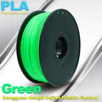 Customorized Green 3mm PLA 3d Printer Filament  100% biodegradable Manufactures