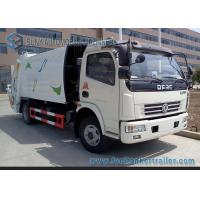 4cbm--6cbm Garbage Compactor Truck  Dongfeng Chassis 4x2 Q235 Carbon Steel Tank Manufactures