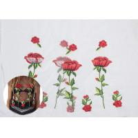 Polyester Embroideried Mesh Rose Lace Fabric , Floral Lace Netting Fabric OEM Service Manufactures