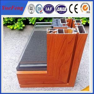 wood finished aluminum extrusion profiles, aluminum window frames price per ton Manufactures