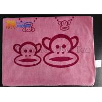 Embossed Soft Microfiber Cleaning Towels , Antibacterial Microfiber Cloth For Electronics Manufactures