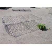 China Double - Twisted Hexagonal Gabion Mesh PVC Coated Wire Stone Gabion Cages on sale