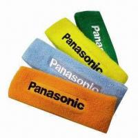 Cotton Head Band with Customized Direct Embroidered Logo Manufactures