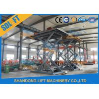 5.5M Basement Stationary Type Hydraulic Scissor Car Lift Long Life Time Manufactures