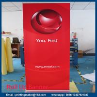 Retractable Standard Roll Up Banner Stand With Banner Manufactures