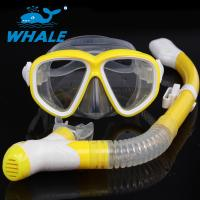 Purge Valve Swim Mask Snorkel Set With Soft Silicone Mouthpiece , Silicone Strap Manufactures