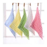 MW-001 Baby Muslin Washcloths 100% Natural Cotton Baby Wipes Super Soft Face Towel for Sensitive Manufactures