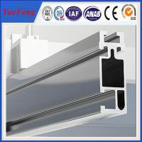 Anodized aluminum extrusion profiles for solar system, solar mounting aluminium rails Manufactures