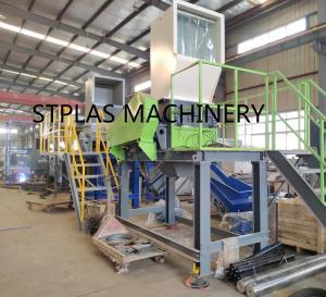 Economic PET Recycling Machine , High Capacity Hot PET Bottle Flakes Washing Line Manufactures