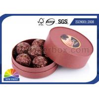 Customized Round Chocolate Packaging Box with Printing , Small Candy Coated Paper Boxes Manufactures