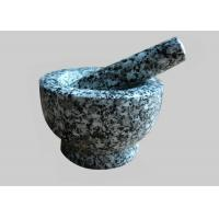 Small Stone Mortar And Pestle , Stone Grinding Bowl Comfortable Easy Clean Manufactures