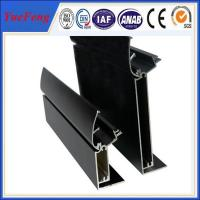 Durable aluminum alloy for menu light box profile with black anodizing Manufactures