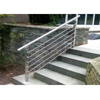 High Flatness Stainless Steel Railing / Stainless Steel Stair Handrail For Exhibition Center Manufactures