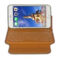 China Yellow Bluetooth V3.0 IPhone 6 Plus Keyboard Case With Slim Design Cover on sale