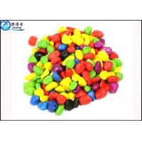 Non-toxic Colorful Grass Cylinder Sand Stone / Pebbles For Aquarium Fish Tanks Decorations Manufactures