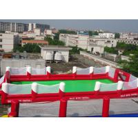 Inflatable Football Game Sports Equipment With 0.45mm - 0.55mm PVC For Children Adult Manufactures