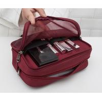 PVC Material  Portable Waterproof Cosmetic Bag Zippered Closure Type Manufactures