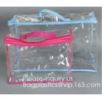 Clothes Storage Bag Organizer with Reinforced Handle,Vinyl Storage Bag for
