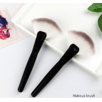 China Double Color Hair Makeup Brushes Fan Brush / Single Powder Brush on sale
