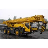 China Pickup Truck Crane With 50 Ton Capacity , Mobile Construction Crane Yellow on sale