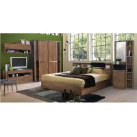 Fashion Melamine 5 Piece Bedroom Furniture Sets With Sliding Wardrobe And TV Stand Manufactures