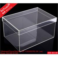 DY101 Acrylic Shoe Box Shoes Container Shiny Smooth Strong Tough Manufactures