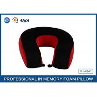 Red And Black Neck Support Memory Foam Pillow U Shaped Travel Pillow For