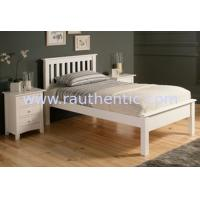 China Simple Gorgeous Wooden Queen Size Bed Frame , White Single Wooden Bed Frame With Mattress on sale