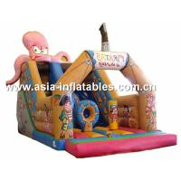 Customized Inflatable Slide In Pirate Ship And Octops Shape For Kids Manufactures
