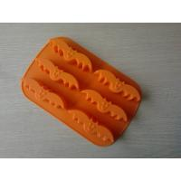 China LFGB 6 Cup Bat Halloween Flexible Silicone Baking Moulds For Bread and Egg Tart on sale