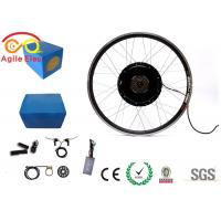 China 1000W Electric Bike Wheel Motor Kit With Blue Naked Lithium Battery on sale