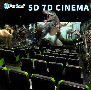 2300mm * 1900mm * 1720mm 5D Theater Equipment 13D Tilt Angle For Back / Forth