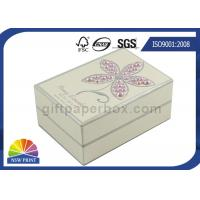 China Pearl Decorated Fancy Small Cardboard Paper Box / Rectangle Rigid Paper Box on sale