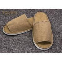 China Disposable Close Toe Hotel Room Slippers / Disposable Travel Slippers on sale