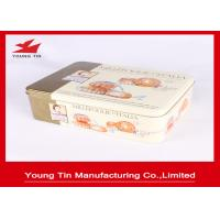 CMYK Printed Cookie Gift Tins Rectangle Shape Recyclable Full Color 0.23 MM Tinplate Manufactures