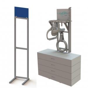 Floor Standing Welded Metal Frame Branded Display Stands Manufactures