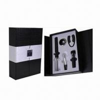 China Bar Set, Includes 1pc Cork Pops Wine Opener, 1pc Wine Pourer and 1pc Wine Vacuum Stopper on sale