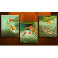 3pcs/set Animal-Fish Home-decor Abstract Art;Hand Painted Artwork On Canvas Art Manufactures