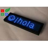 Rechargable Blue Red Yellow Programmable LED Name Badge Sign In Worldwide Languages Manufactures